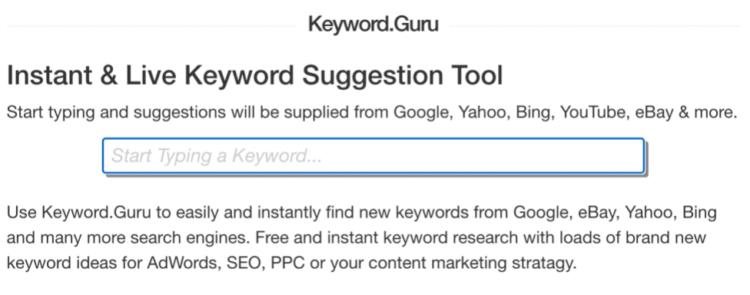 analiza słów kluczowych - keyword guru