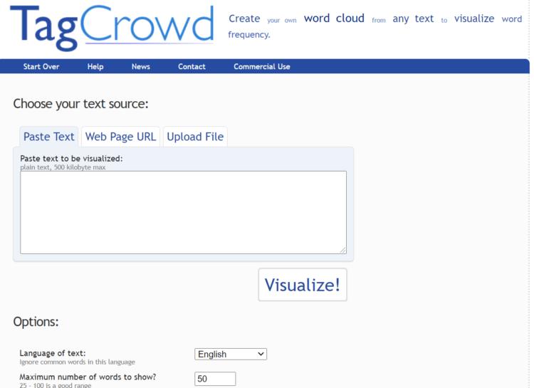 Narzędzie do badania słów kluczowych - tag crowd